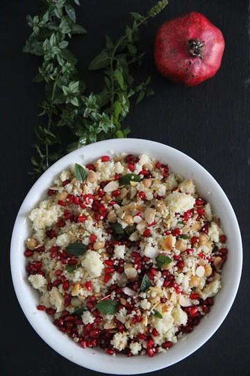 Rezept Couscous-Salat mit Kirchererbsen und Granatapfel à la Katie Quinn Davies