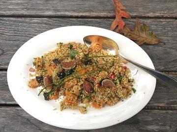 Rezept Couscous Salat mit Kuerbis und Feigen