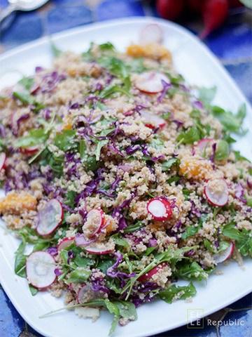 Rezept Couscous Salat mit Radieschen und Orangen