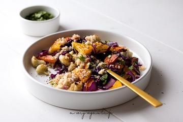 Rezept Couscous-Salat mit Tahin-Dressing & Sumac