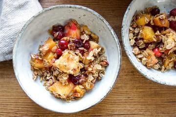 Rezept Cranberry Apfel Crisp mit Orange (Vegan + Glutenfrei)