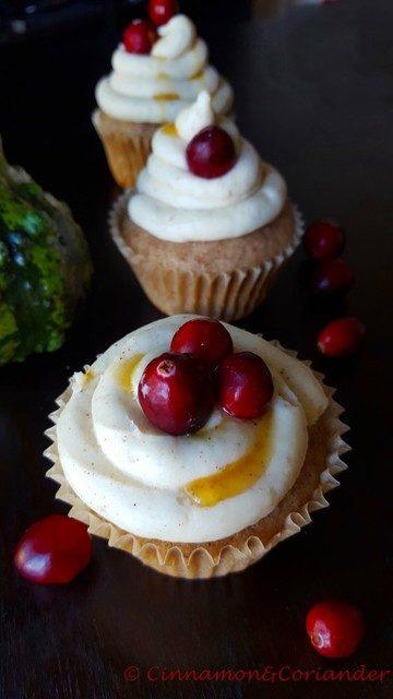 Rezept Cranberry Chai Cupcakes