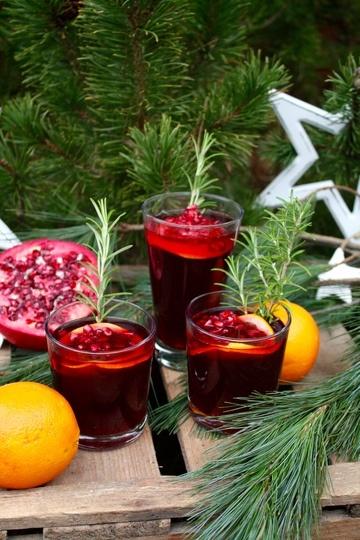 Rezept Cranberry Granatapfel Punsch