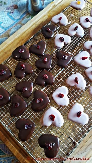 Rezept Cranberry Lebkuchen Herzen