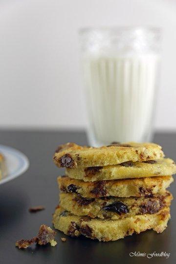 Rezept Cranberry-Schoko-Cookies mit Limette ~ ein Ausflug in die amerikanische Patisserie