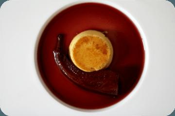 Rezept Crème Caramel mit Lorbeer und Abbé Fétel in Holunder-Sauce