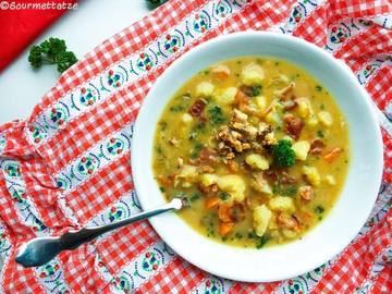 Rezept Cremige Blumenkohlsuppe mit Pancetta