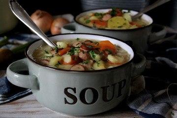 Rezept Cremige Kartoffelsuppe mit Würstchen