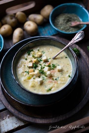 Rezept Cremige, vegetarische Kartoffelsuppe