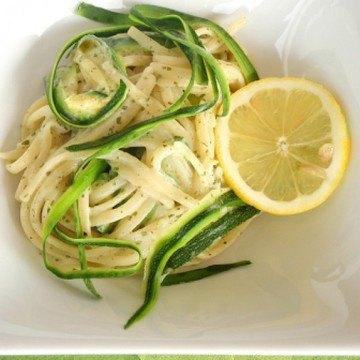 Rezept Cremige Zucchinipasta mit Zitronensauce