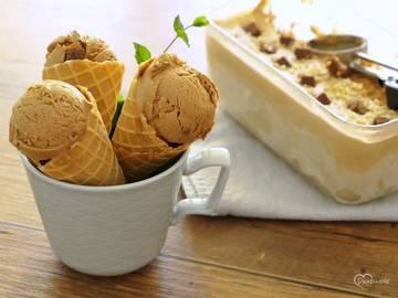 Rezept Cremiges Nougat- oder Schokoladeneis
