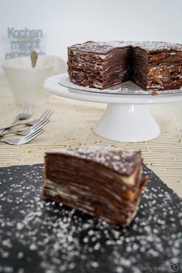 Rezept  Crepe-Cake oder auch Pfannkuchen-Kuchen