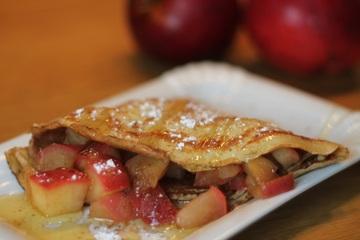 Rezept Crêpes mit Apfel-Zimt-Kompott