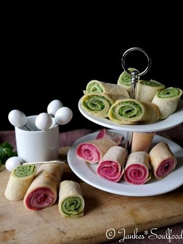 Rezept Crepes-Röllchen mit Pesto