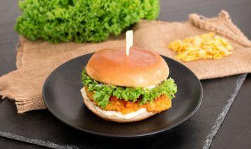 Rezept Crispy Chicken Burger mit Paprikastreifen