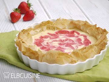 Rezept Crispy Strawberry-Cheesecake mit Swirl