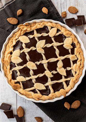 Rezept Crostata mit Amaretto-Schokoladen-Füllung