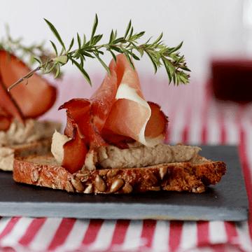 Rezept Crostini mit Maronencrème und Schwarzwälder Schinken