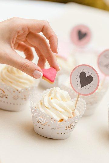 Rezept Cupcakes mit Herzen