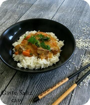 Rezept Curry mit Süßkartoffel und Schweinefleisch