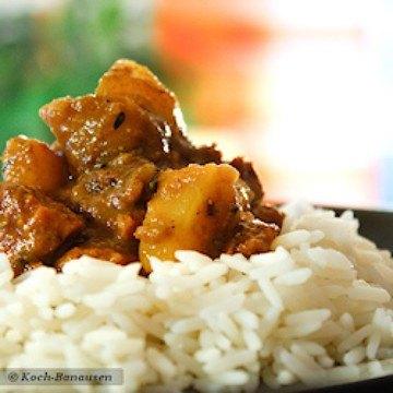 Rezept Currypfanne mit Rindfleisch und Apfel