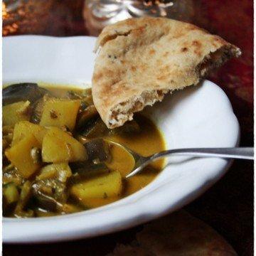 Rezept Currytopf mit Aubergine, Pilzen und Kartoffel