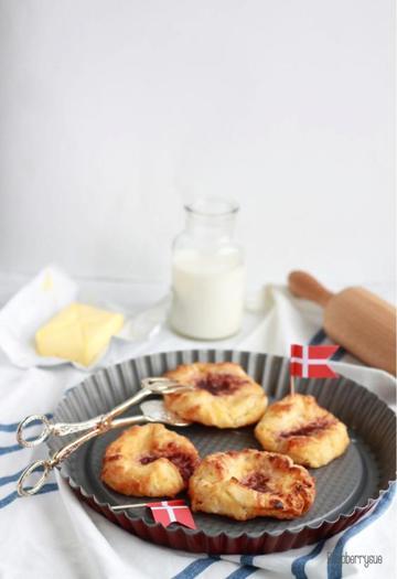 Rezept Dänische Plunder mit Cremefüllung