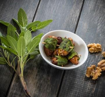 Rezept Datteln in Salbeimantel (vegan)