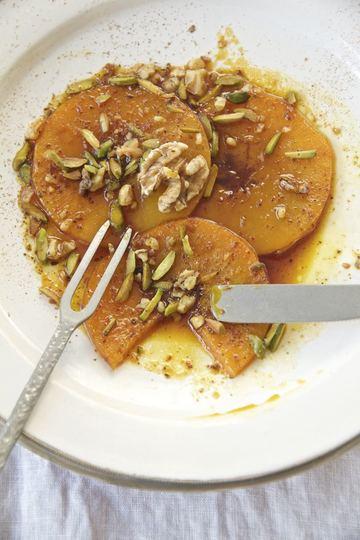 Rezept Desser-e Kadu Halvai - Butternutkürbis in Safran-Zimt-Sirup