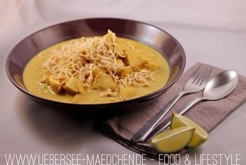 Rezept Die asiatische Suppe mit Tikka Masala und Hähnchen