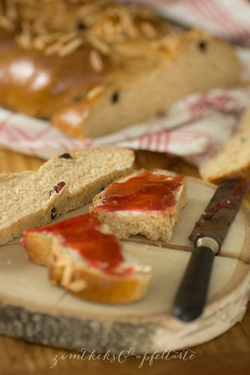 Rezept Dinkel-Hefezopf mit Cranberries