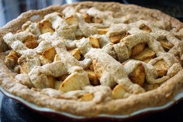 Rezept Dinkel Vollkorn Apfelkuchen mit Vanille Pudding
