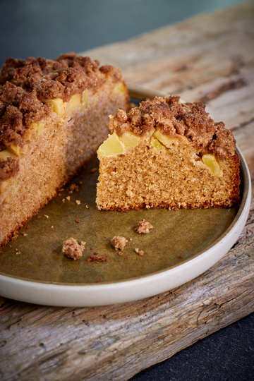 Rezept Dinkelkuchen mit Apfel und Zimtstreuseln