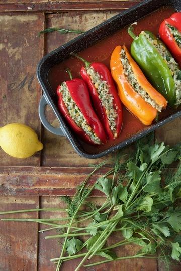 Rezept Dolmeh Felfel - Gefüllte Spitzpaprika nach persischer Art