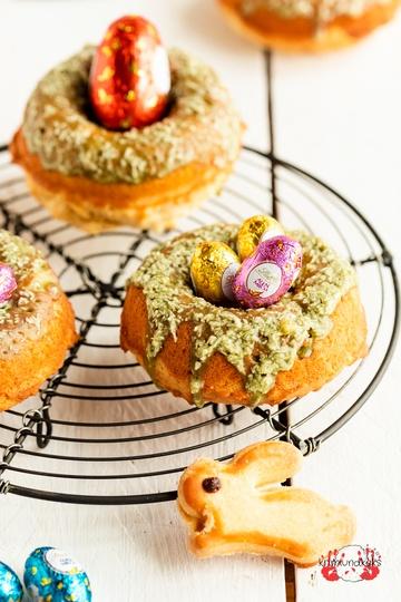 Rezept Donut-Osternester mit Kokos