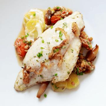 Rezept Dorade auf Puy-Linsen-Salat