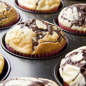 Rezept Double Chocolate Cheesecake Muffins