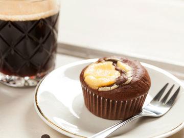 Rezept Double Chocolate Cheesecake Muffins