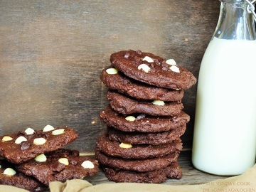 Rezept Double Chocolate Cookies black & white