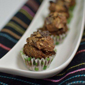 Rezept Double-Chocolate Mini-Cupcakes