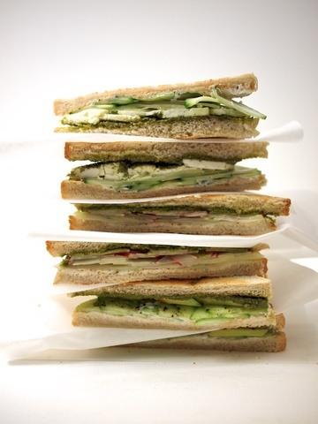Rezept Dreierlei Sandwiches