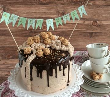 Rezept Dripping-Cake mit Schokolade und Kirschen