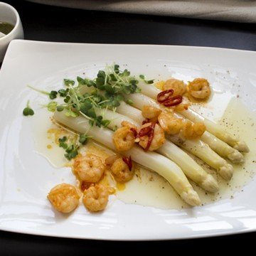 Rezept Drunken Prawns On Fire mit Spargel