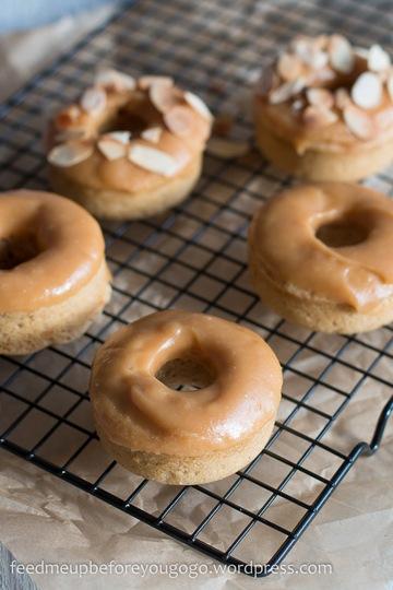 Rezept Dulce de leche-Donuts mit gerösteten Mandeln
