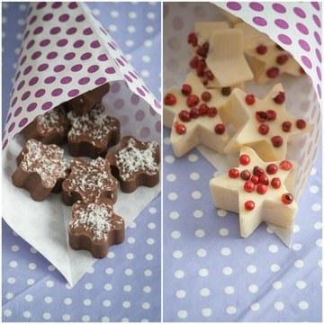 Rezept Dunkel und weiße Knallbrause-Schokolade