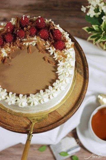 Rezept Earl Grey Milchschokoladentorte mit Himbeeren