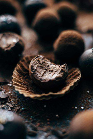 Rezept EASY CHOCOLATE RUM TRUFFLES