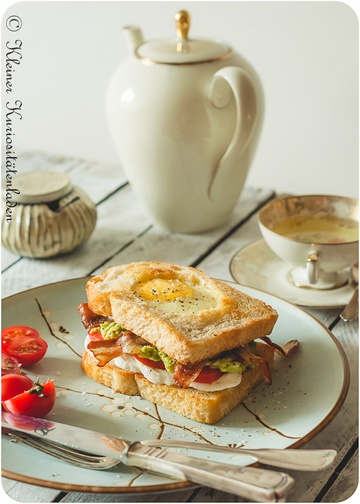 Rezept Egg-in-a-Hole-Frühstückssandwich