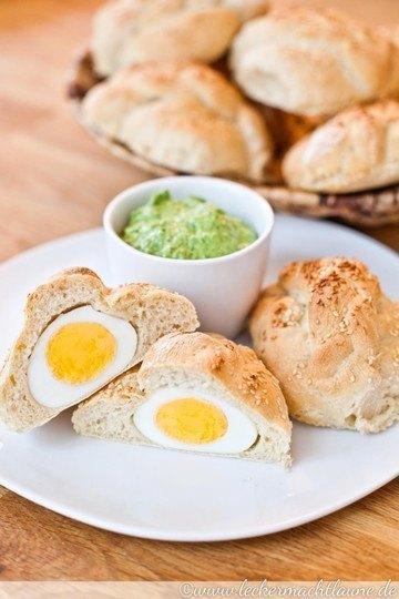 Rezept Eier-Brötchen mit Bärlauchcreme