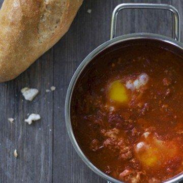 Rezept Eier in Tomatensauce